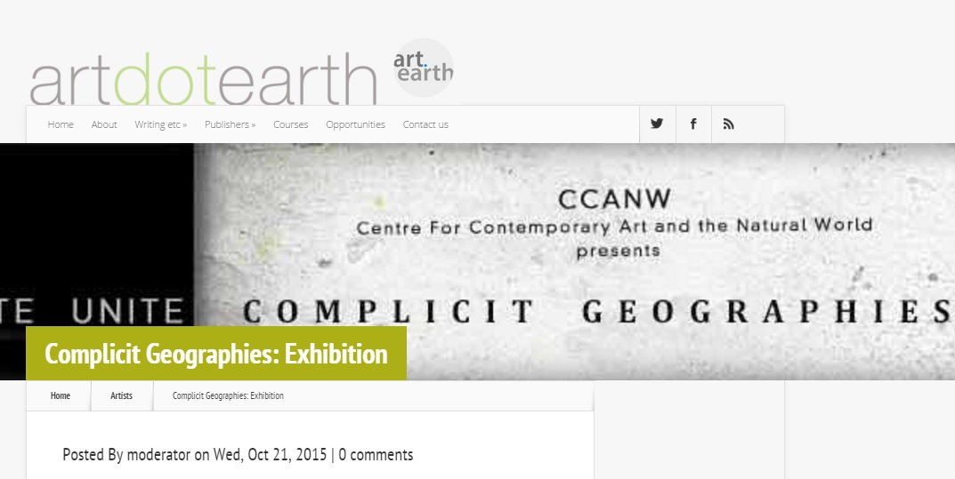 2015 Artdotearth William Strata Smith Complicit Geographies