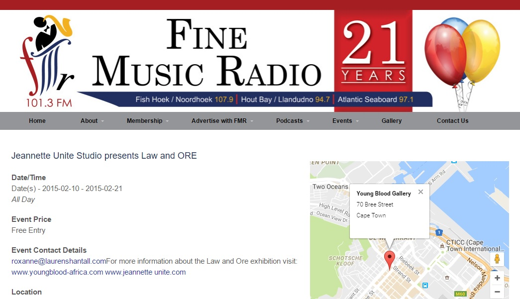 2015 Fine Music Radio announcement